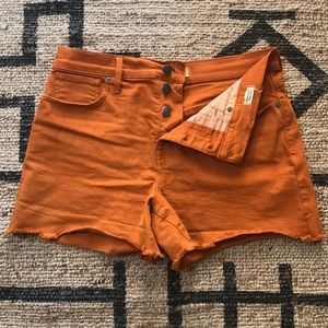 Madewell Button Fly High Rise Denim Shorts